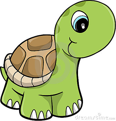 Cute Safari turtle Vector Illustration
