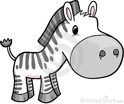 Cute Safari Zebra Vector
