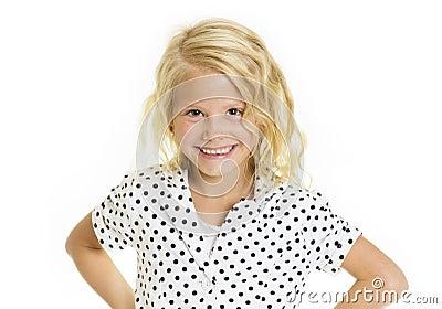 Cute Sassy Little Girl Stock Photo