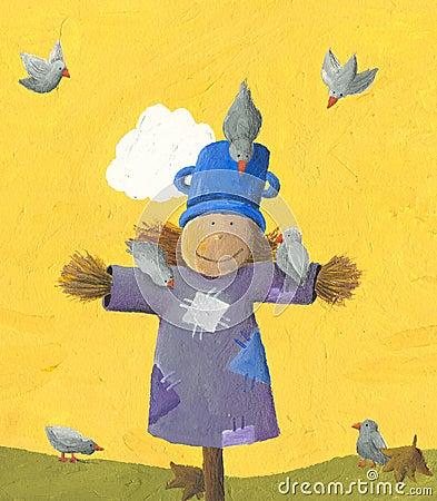 Free Cute Scarecrow Stock Photos - 25064973