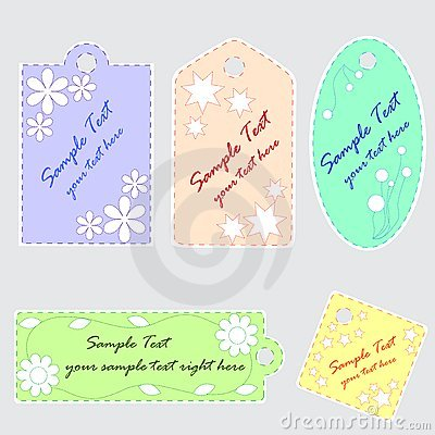 Cute scrapbook tags