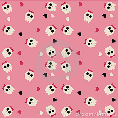 Cute scull pattern