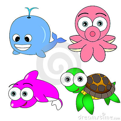 Cute Sea Animal Set