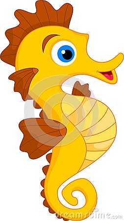 Free Cute Seahorse Cartoon Stock Images - 32326964