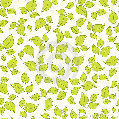 Cute seamless background with leaves