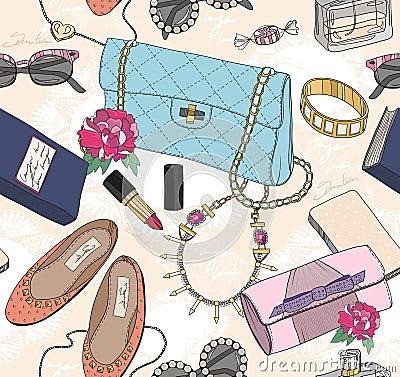 Free Cute Seamless Fashion Pattern Stock Photos - 39154173