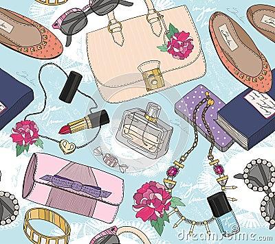 Free Cute Seamless Fashion Seamless Pattern Royalty Free Stock Image - 39154166