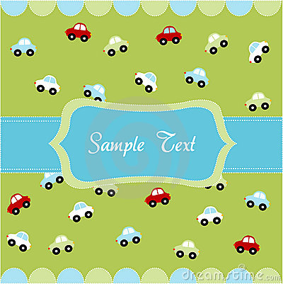 Cute seamless pattern with little cars