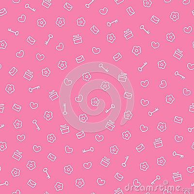 Cute seamless valentine pattern
