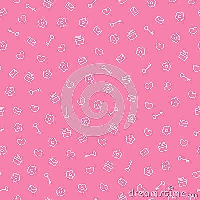Cute seamless valentine pattern