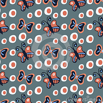 Free Cute Seamless Vector Pattern/background/wallpapers With Bows And Polka Dots. Royalty Free Stock Image - 51434516