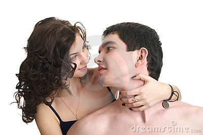 Cute sexual couple in love
