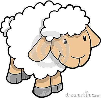 Free Cute Sheep Lamb Vector Stock Images - 9205504