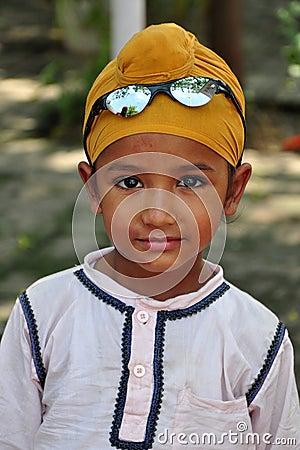 Cute sikh boy