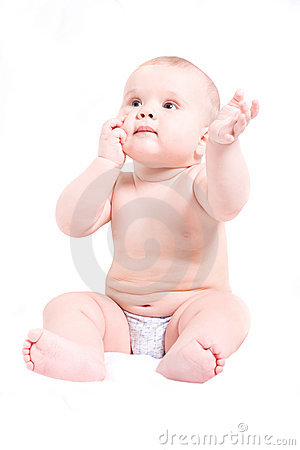 Free Cute Six Month Baby Royalty Free Stock Photography - 5256807