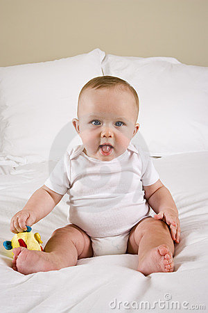 Free Cute Six Month Old Baby Royalty Free Stock Image - 11032056