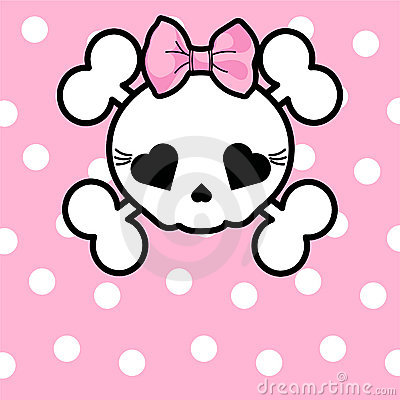 Free Cute Skull With Bow Royalty Free Stock Image - 19272806