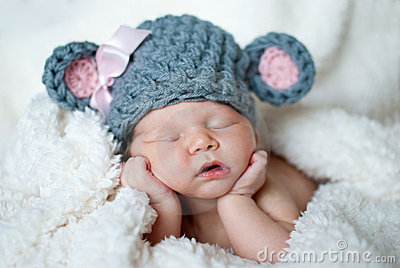 Cute sleeping baby Stock Photo