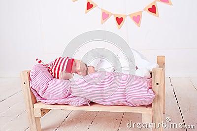 Cute sleeping baby Stock Photo
