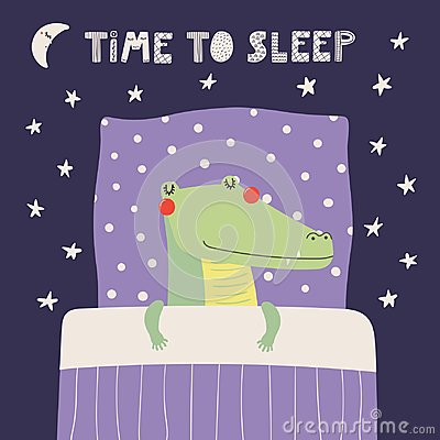 Free Cute Sleeping Crocodile Stock Photography - 113646412