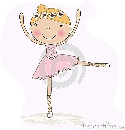 Cute small ballerina