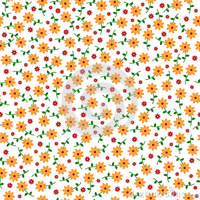 Free Cute Small Vector Flowers Seamless Pattern Royalty Free Stock Photos - 52807188