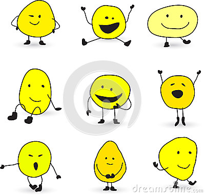 Free Cute Smiley Face Characters Stock Photography - 27370722