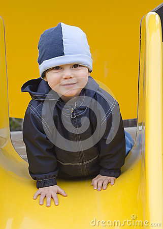 Child at playground.