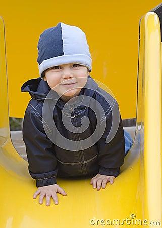 Child at playground.