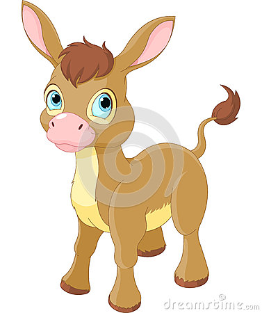 Cute Smiling Donkey