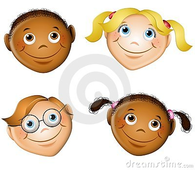 Cute Smiling Kids Faces