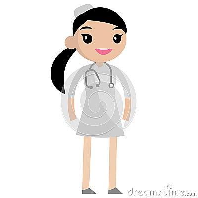 Cute smiling nurse