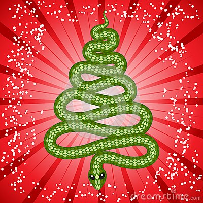 Cute snake (symbol of 2013 year)