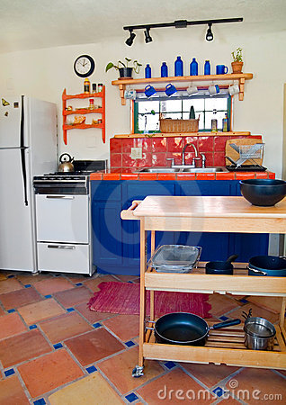 Cute southwestern kitchen