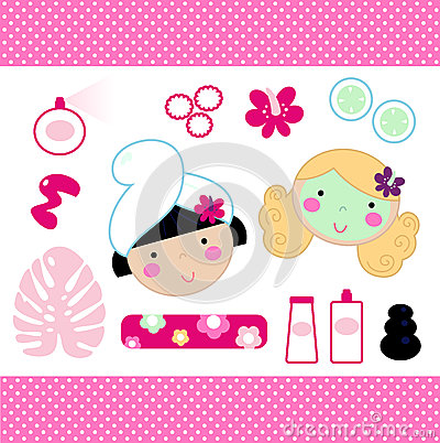 Cute spa set elements