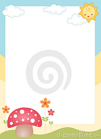 Cute spring border / frame