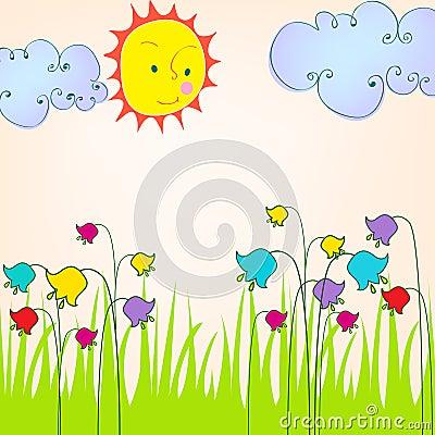 Cute spring meadow