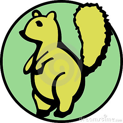 cute squirrel with a fluffy tail. Vector available