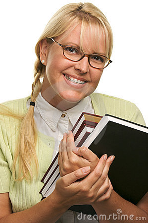 Free Cute Student With Braces Carrying Her Books Royalty Free Stock Photography - 5767627