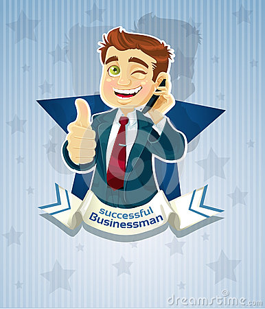Cute successful businessman- star poster