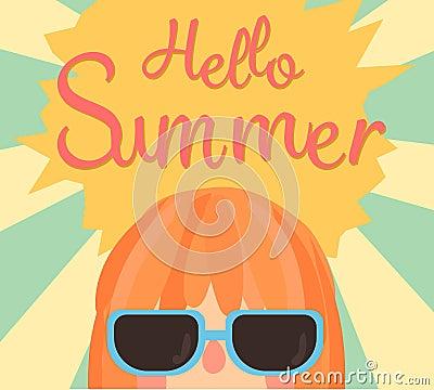 Cute Summer Card. Hello Summer.illustration Vector. Stock Vector - Image: 544...