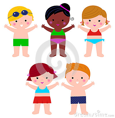 Cute Summer Kids in swimsuit set