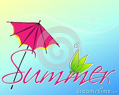 Cute summer text