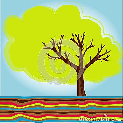 Cute summer tree
