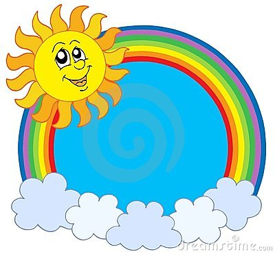 Cute Sun and rainbow