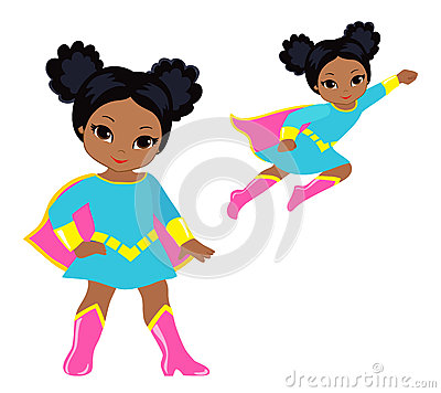 Free Cute Superhero Girl Vector Clip Art Set. Royalty Free Stock Photography - 73345177