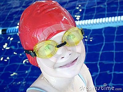 Cute swimmer