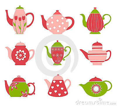 Cute tea pot collection