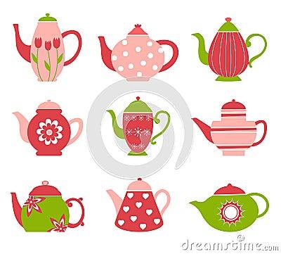 Cute tea pot collection