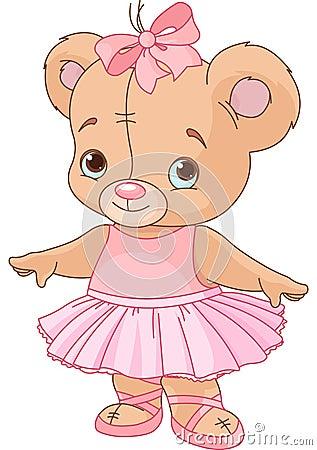 Free Cute Teddy Bear Ballerina Royalty Free Stock Photo - 26055145
